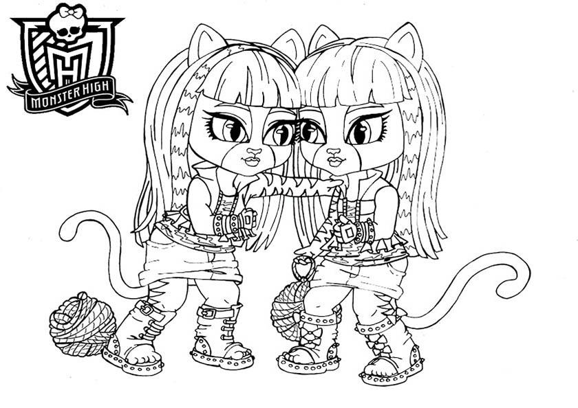Ausmalbilder Monster High 46 Gratis Malvorlagen