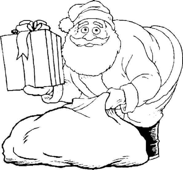 Weihnachtsmann mit seinem Sack von Geschenken