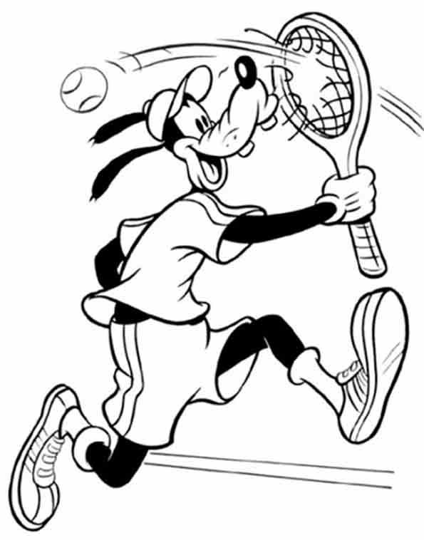 Goofy spielt Tennis