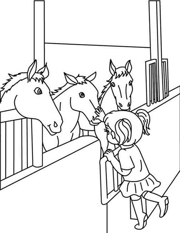 pferde 5 malvorlagen