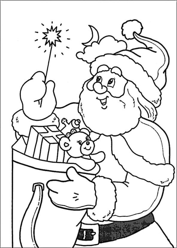 ausmalbilder Weihnachtsmann 5