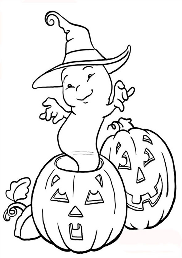 Halloween zum ausmalen. Bild 1