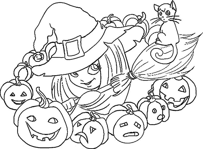 Halloween zum ausmalen 6