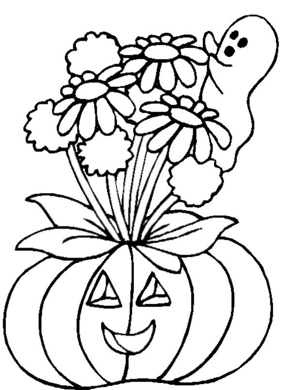 Kürbis Halloween zum ausmalen 9