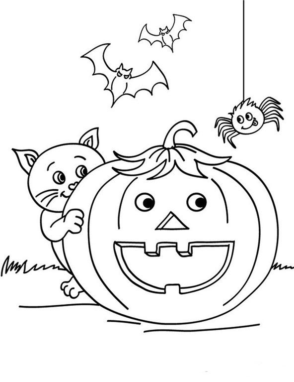 Halloween zum ausmalen 11