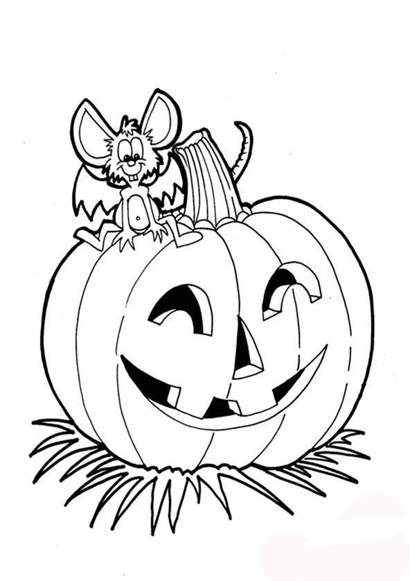 Halloween zum ausmalen 12